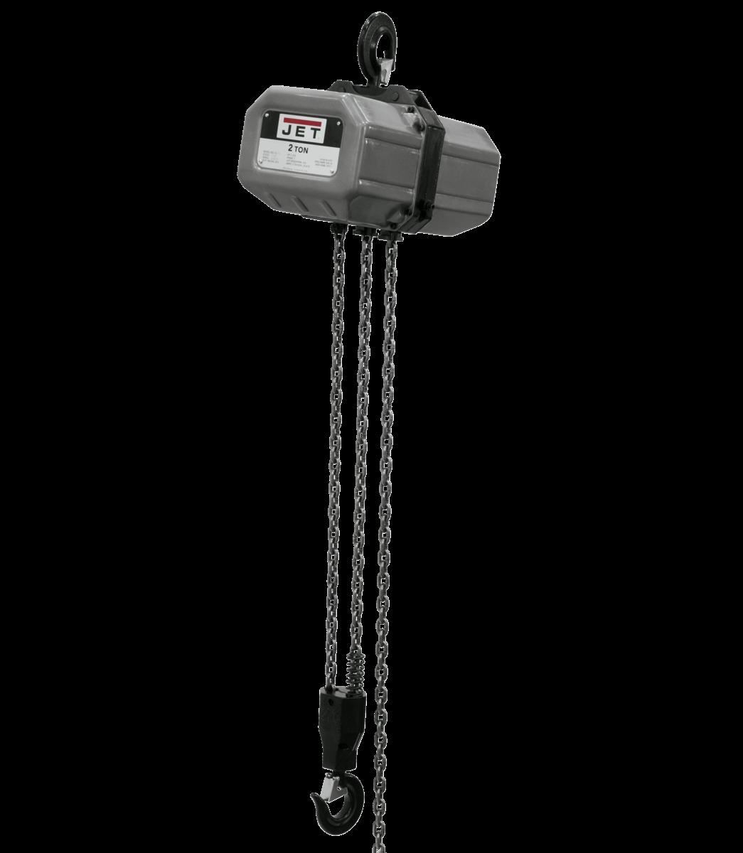 2SS-1C-10, 2-Ton Electric Chain Hoist 1-Phase 10' Lift