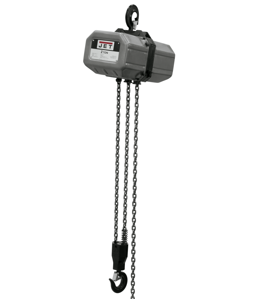 2SS-1C-15, 2-Ton Electric Chain Hoist 1-Phase 15' Lift
