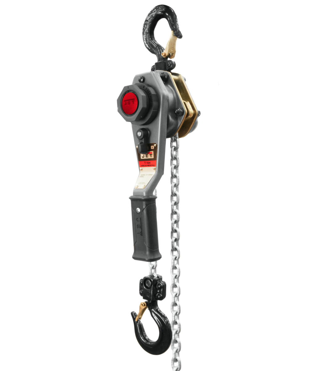 JLH Series 1 Ton Lever Hoist, 20' Lift with Overload Protection