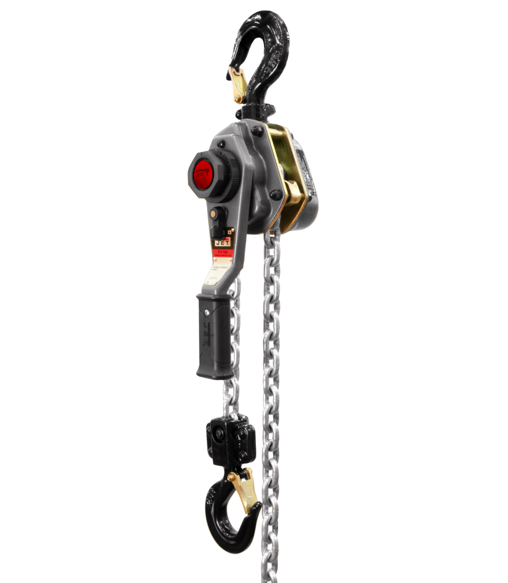 JLH Series 2-1/2 Ton Lever Hoist, 10' Lift with Overload Protection