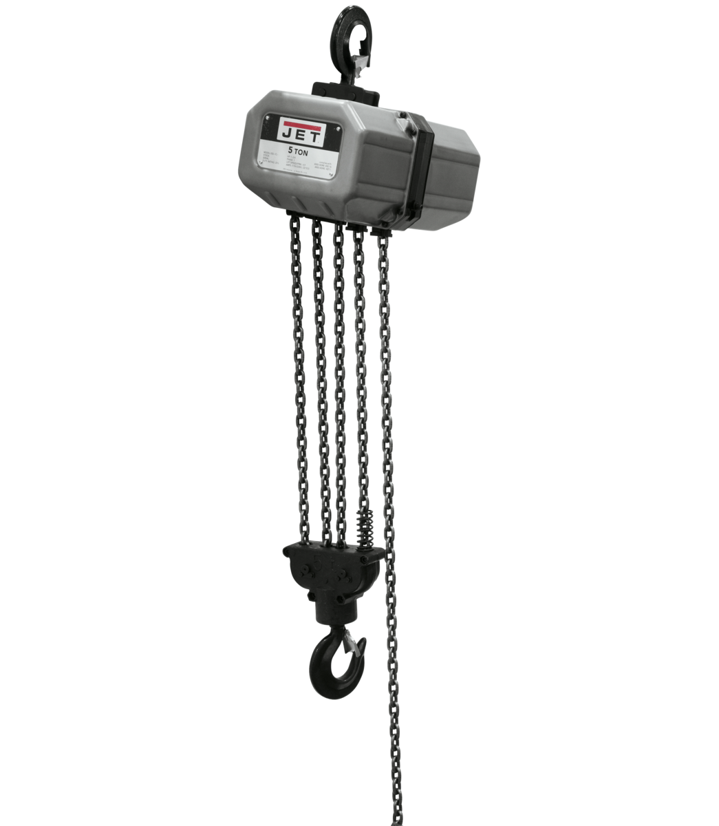 5SS-1C-10, 5-Ton Electric Chain Hoist 1-Phase 10' Lift