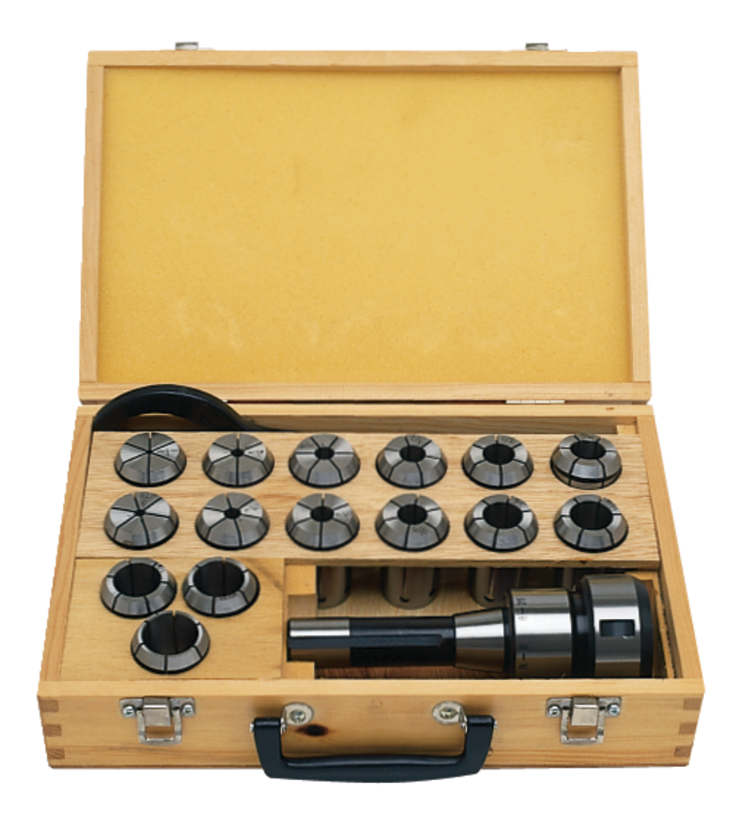 CCS-1, R-8 Chuck and Collet Set