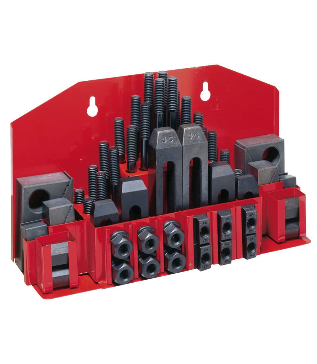 CK-12, 58-Piece Clamping Kit with Tray for T-Slot