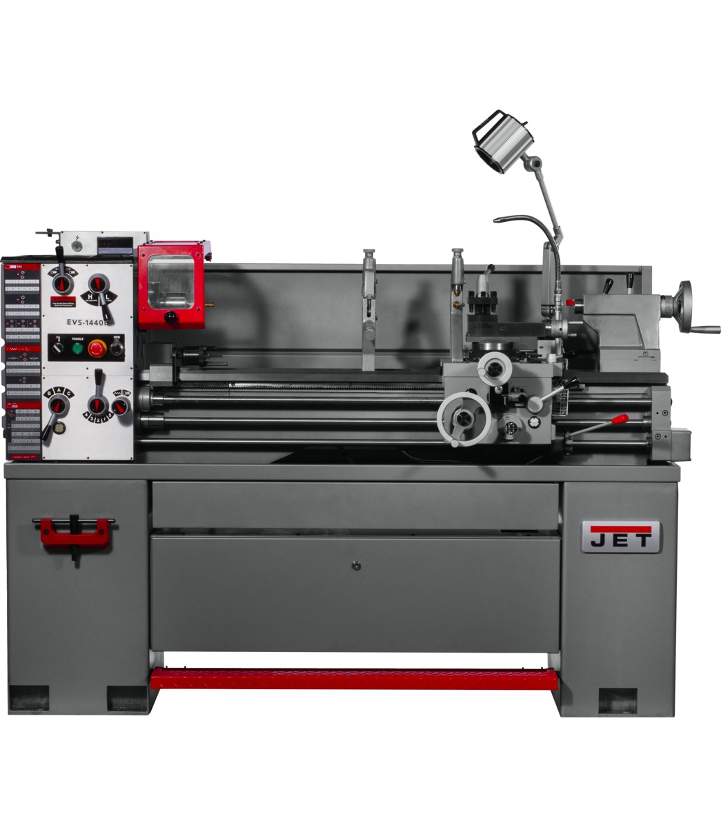 EVS-1440B Electronic Variable Speed Bench Lathe, 3HP