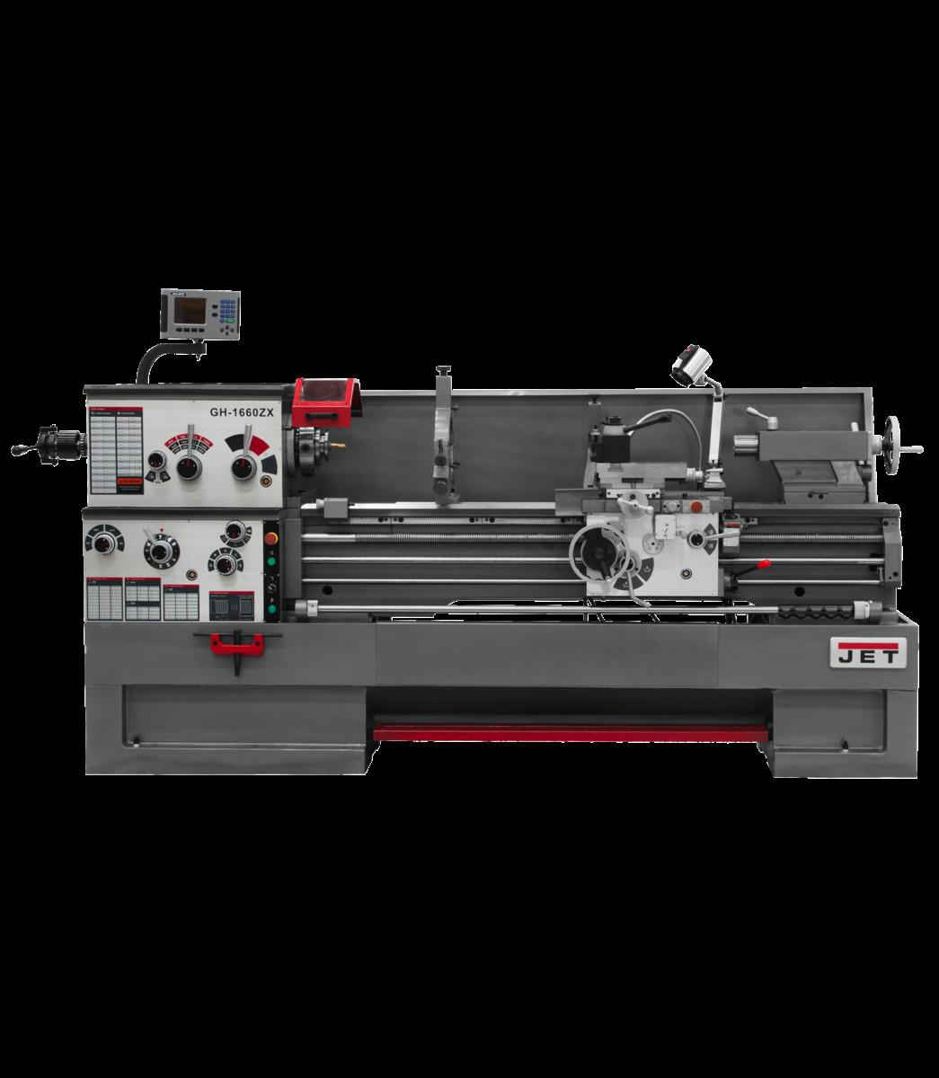 GH-1660ZX torno con visualizador de posición digital 300S y cierre automático