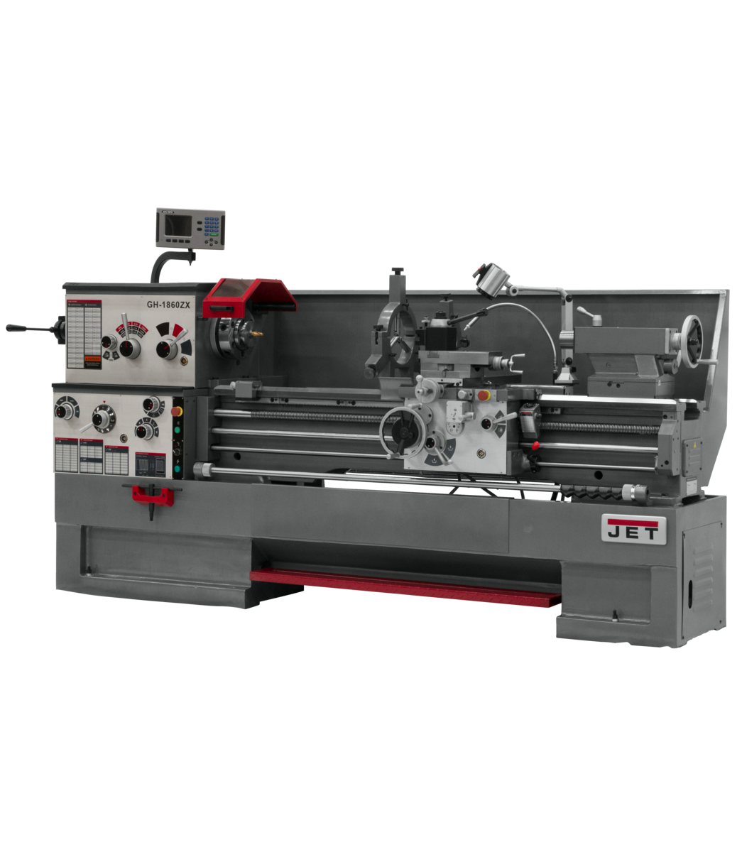 GH-1660ZX With Newall DP700 DRO With Taper Attachment and Collet Closer