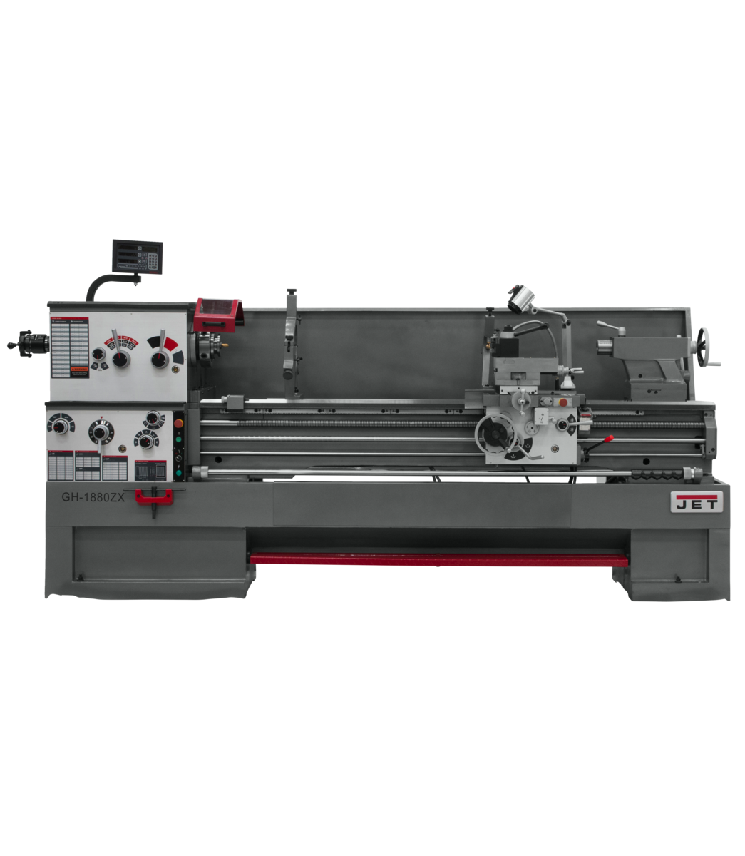 GH-1880ZX Lathe With Newall DP700 DRO With Collet Closer