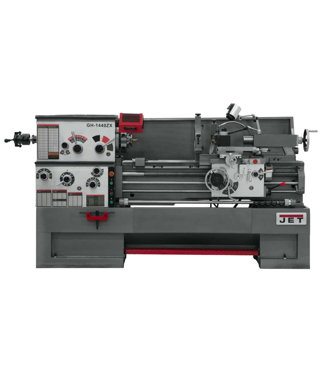 GH-1440ZX Lathe With Taper Attachment and Collet Closer