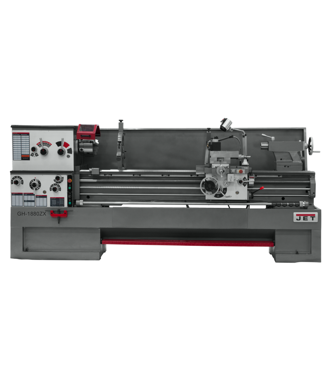 """GH-1880ZX, 3-1/8"""" Spindle Bore Geared Head Lathe"""