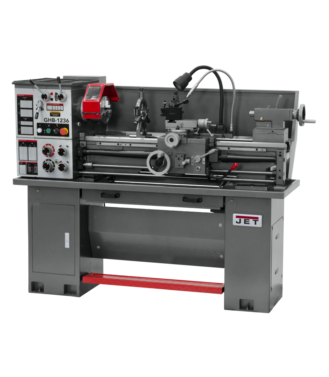 GHB-1236  Geared Head Bench Lathe with ACU_RITE 203 DRO & Taper Attachment in Jet Metalworking, Turning, Lathes
