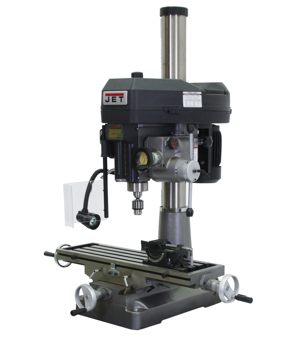 JMD-18PFN Mill/Drill With ACU-RITE 203  DRO and X-Axis Table Powerfeed