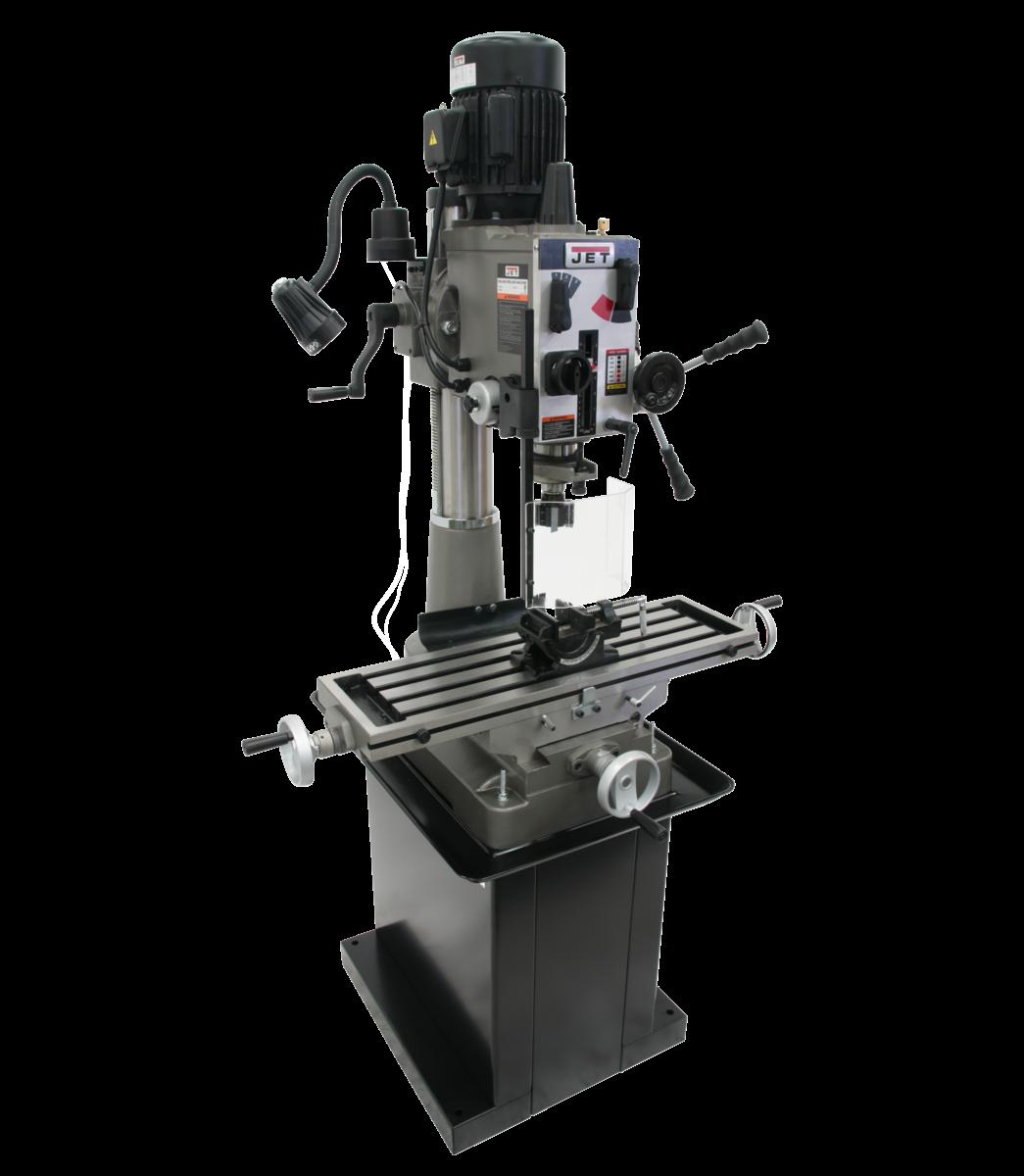 JMD-40GH Geared Head Mill/Drill with Newall DP500 2-Axis DRO &  X-Powerfeed