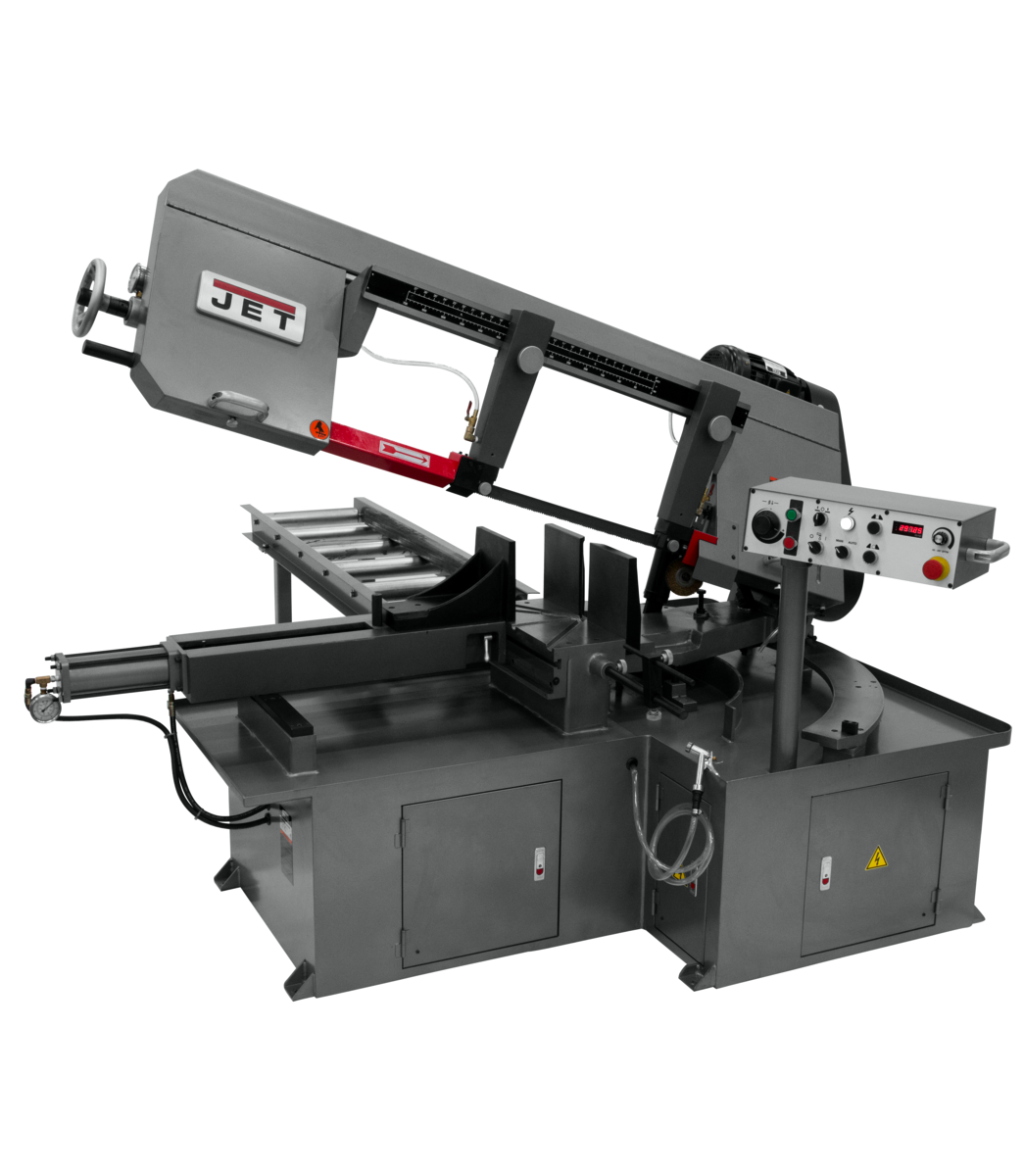MBS-1323EVS-H, Semi-Automatic Dual Mitering Bandsaw 3HP 230V, 3-Ph