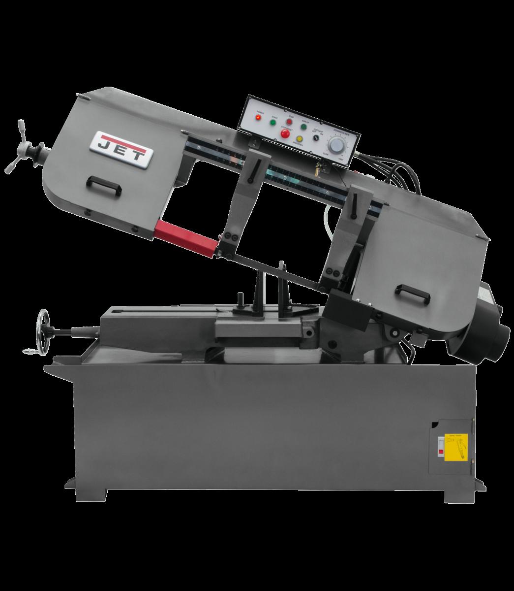 """Sierra-cinta horizontal semiautomática de 13""""x21"""" JET, 3 HP, 230/460 V, trifásica"""