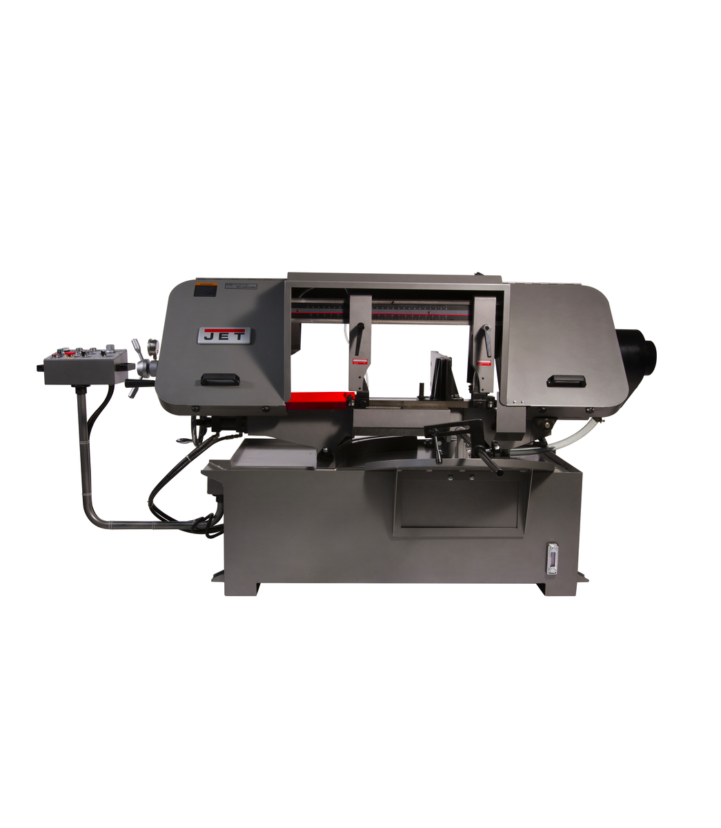 "HBS-1220MSAH, 12"" x 20"" Semi-Automatic Mitering Variable Speed Bandsaw with Hydraulic Vise"