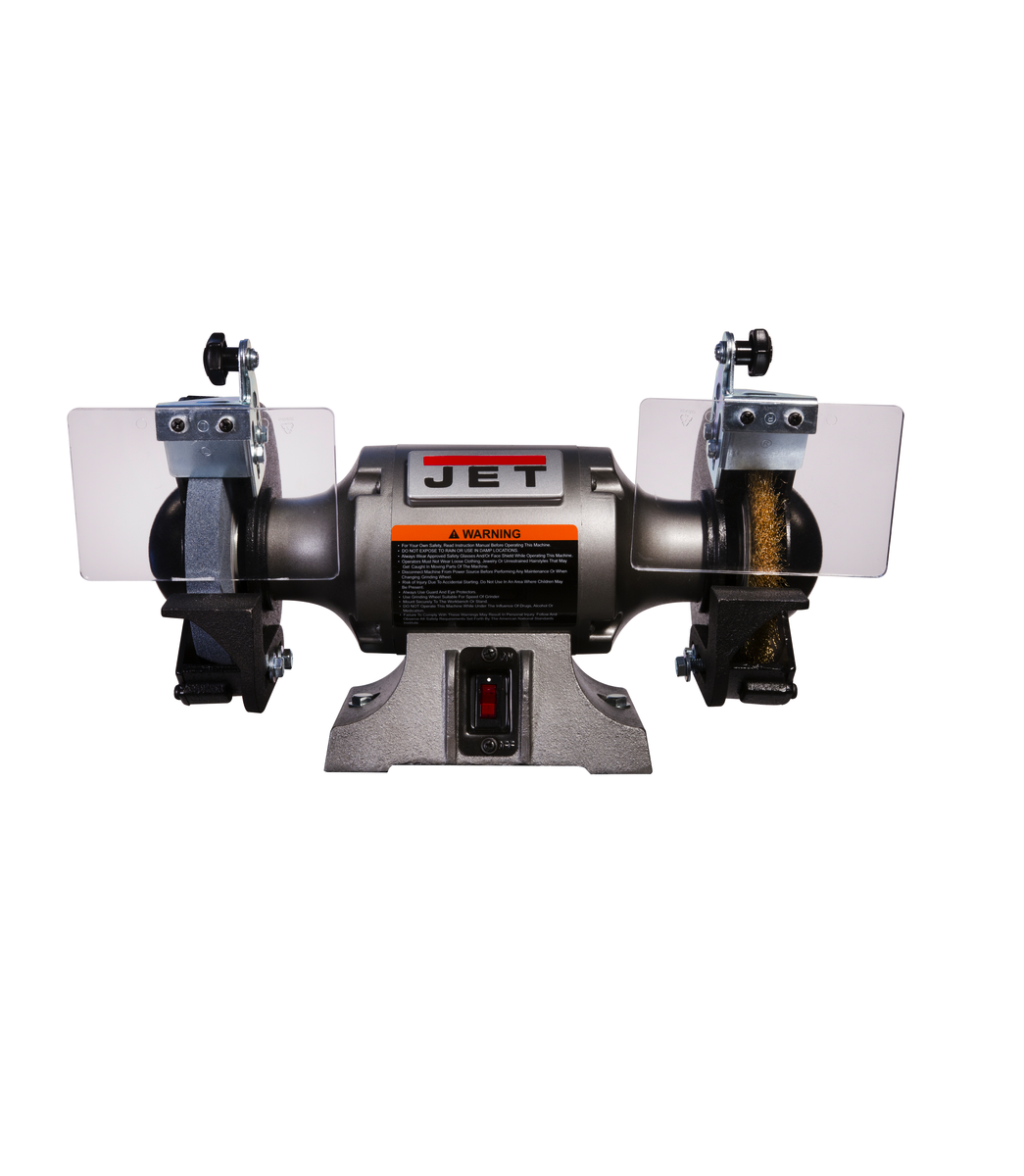 JBG-6W Shop Grinder with Grinding Wheel and Wire Wheel