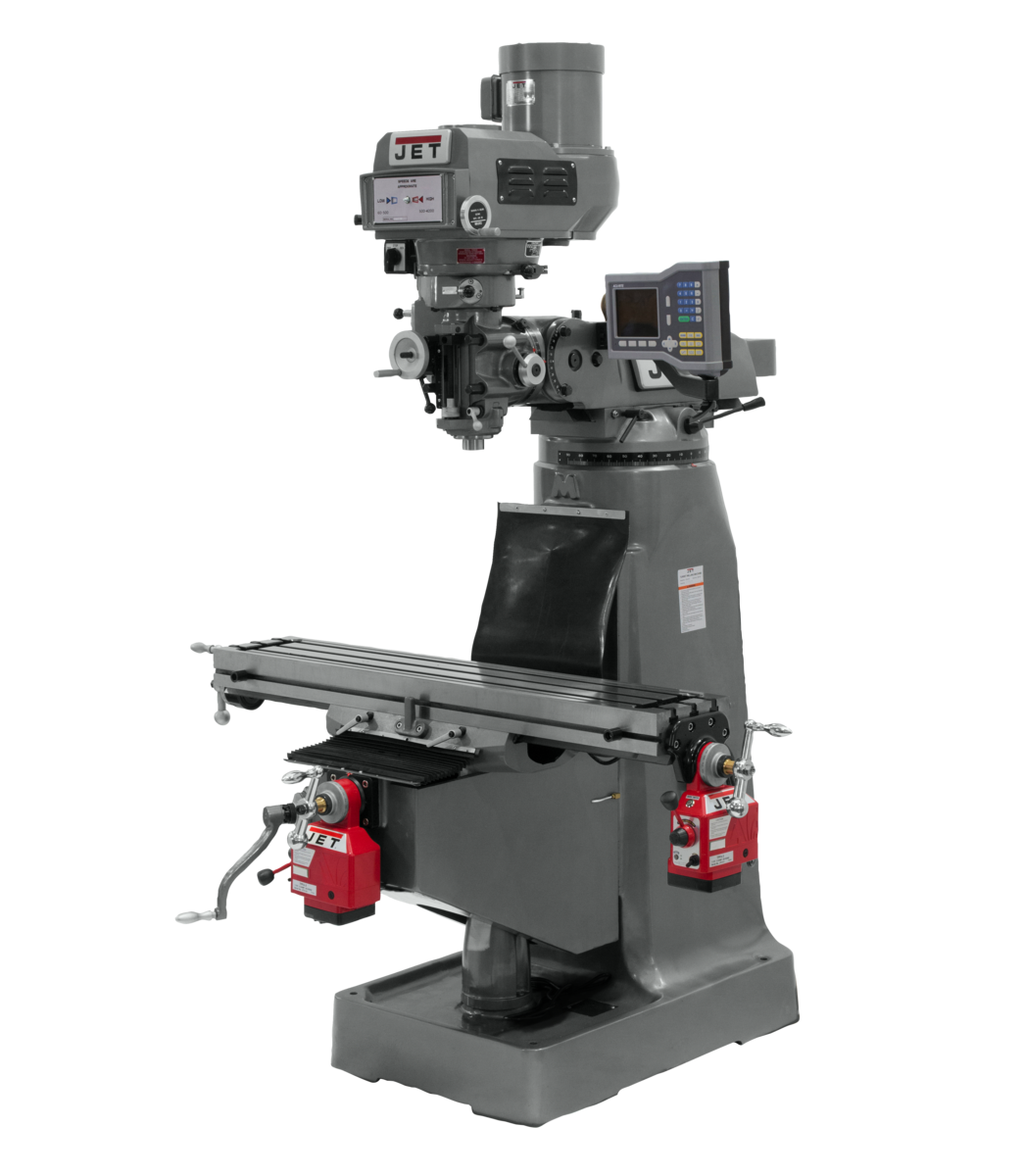 JTM-4VS Mill With ACU-RITE 203 DRO With X and Z-Axis Powerfeeds