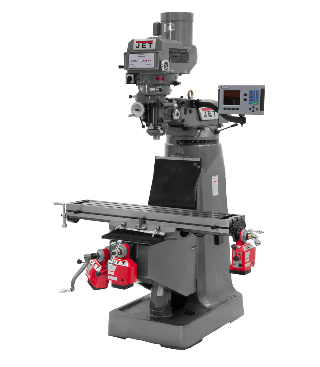 JTM-4VS Mill With ACU-RITE 203 DRO With X, Y and Z-Axis Powerfeeds