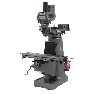 JTM-4VS Mill With ACU-RITE 203 DRO With X-Axis Powerfeed and Power Draw Bar