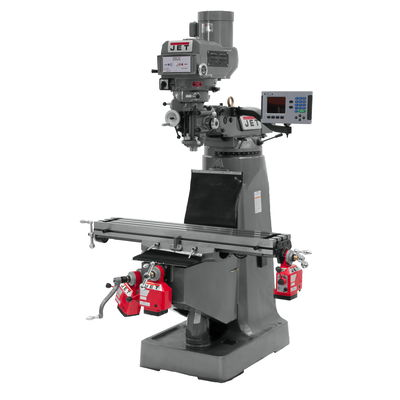 JTM-4VS Mill With 3-Axis ACU-RITE 203 DRO (Quill) With X,Y and Z-Axis Powerfeeds