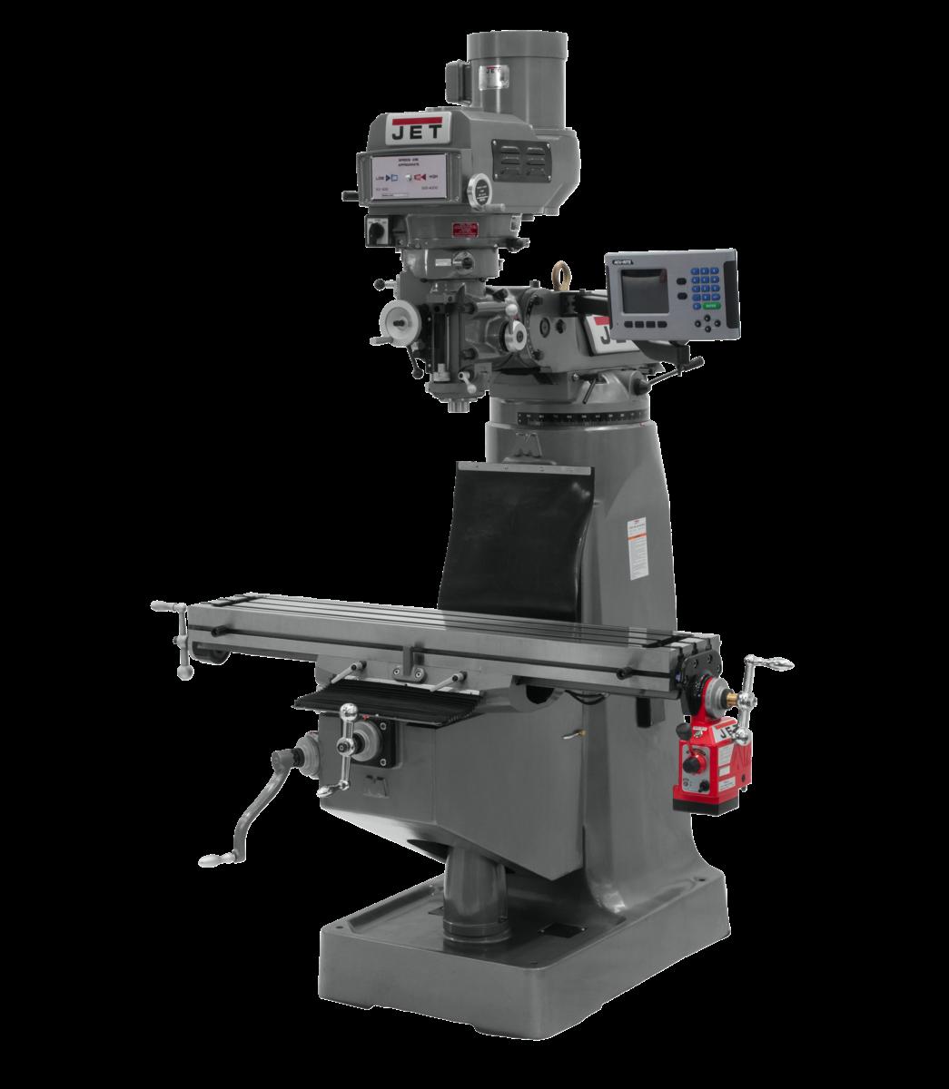 Fresadora JTM-4VS con visualizador de posición digital 300S y TPFA eje X
