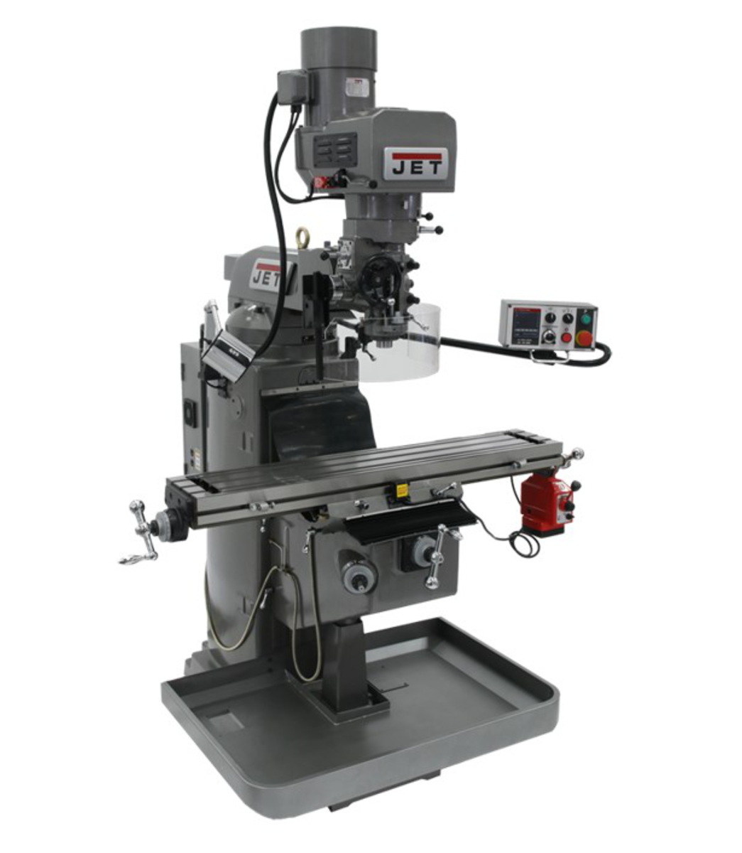 JTM-1050EVS2/230 Mill With Acu-Rite 203 DRO With X-Axis Powerfeed