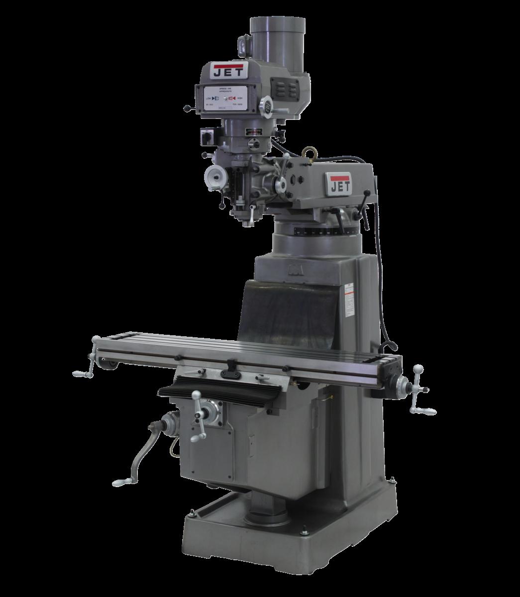 Fresadora JTM-1050 con visualizador de posición digital DP700 y barra de tracción a aire
