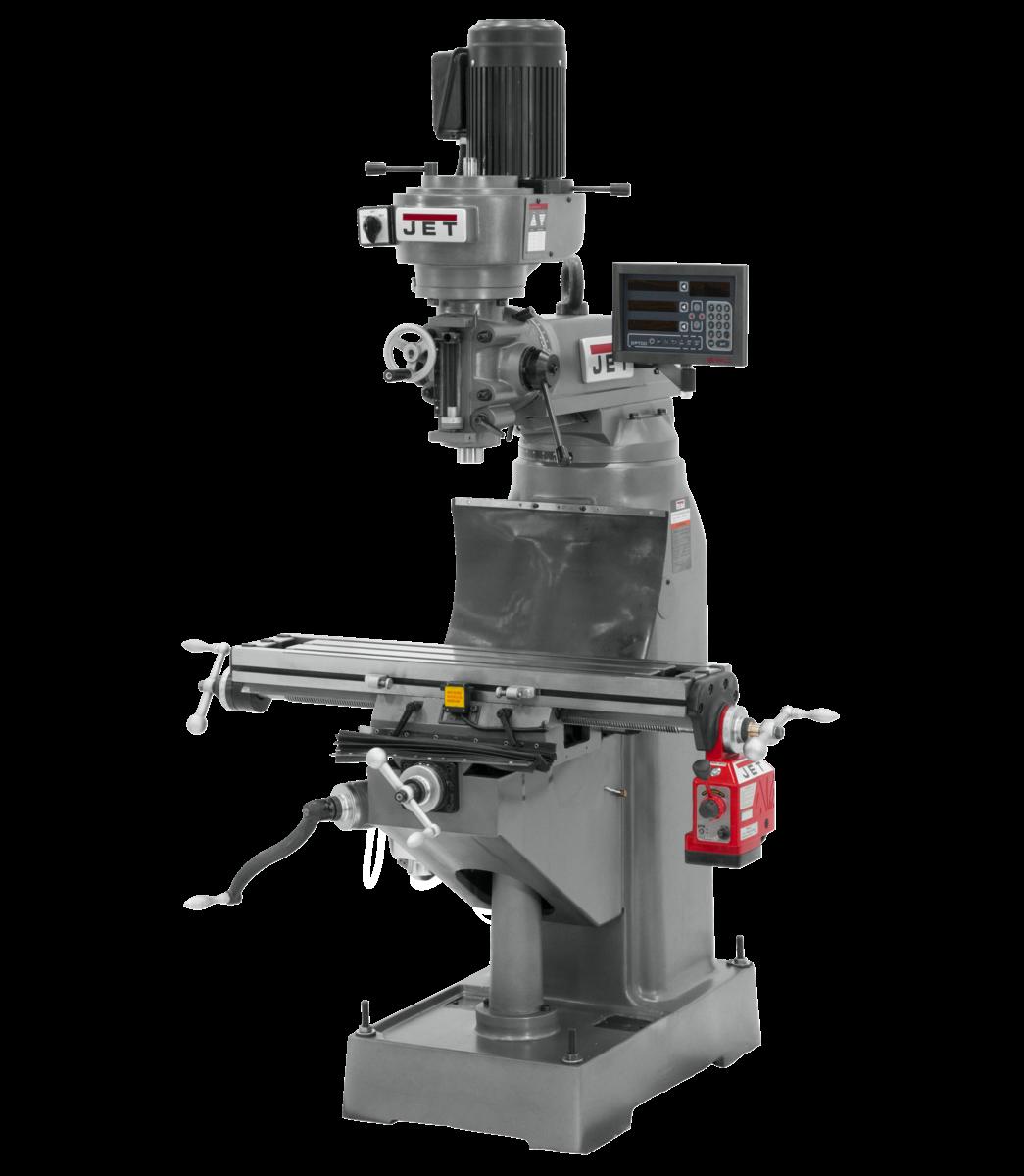 Fresadora JVM-836-1 con visualizador de posición digital NEWALL DP700 y alimentación automática