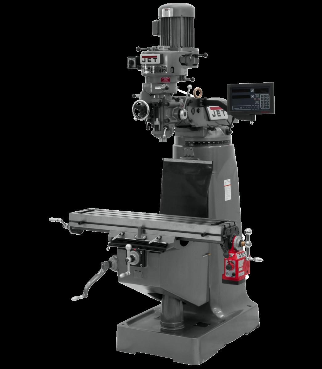 Fresadora JTM-1 con visualizador de posición digital NEWALL DP700M de 2 ejes y con alimentación automática eje X instalada