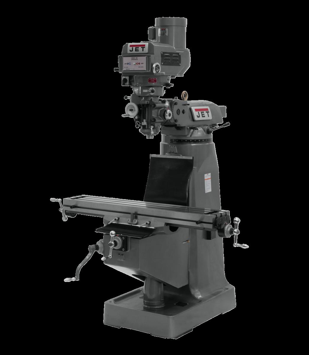 Fresadora JTM-4VS con visualizador de posición digital NEWALL DP700 instalado