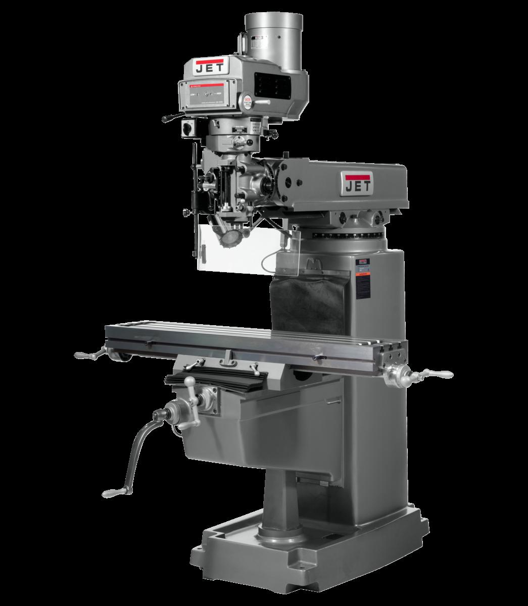 Fresadora JTM-1050 con visualizador de posición digital NEWALL DP700 de 3 ejes (eje hueco) y alimentación automática ejes X e Y instalados