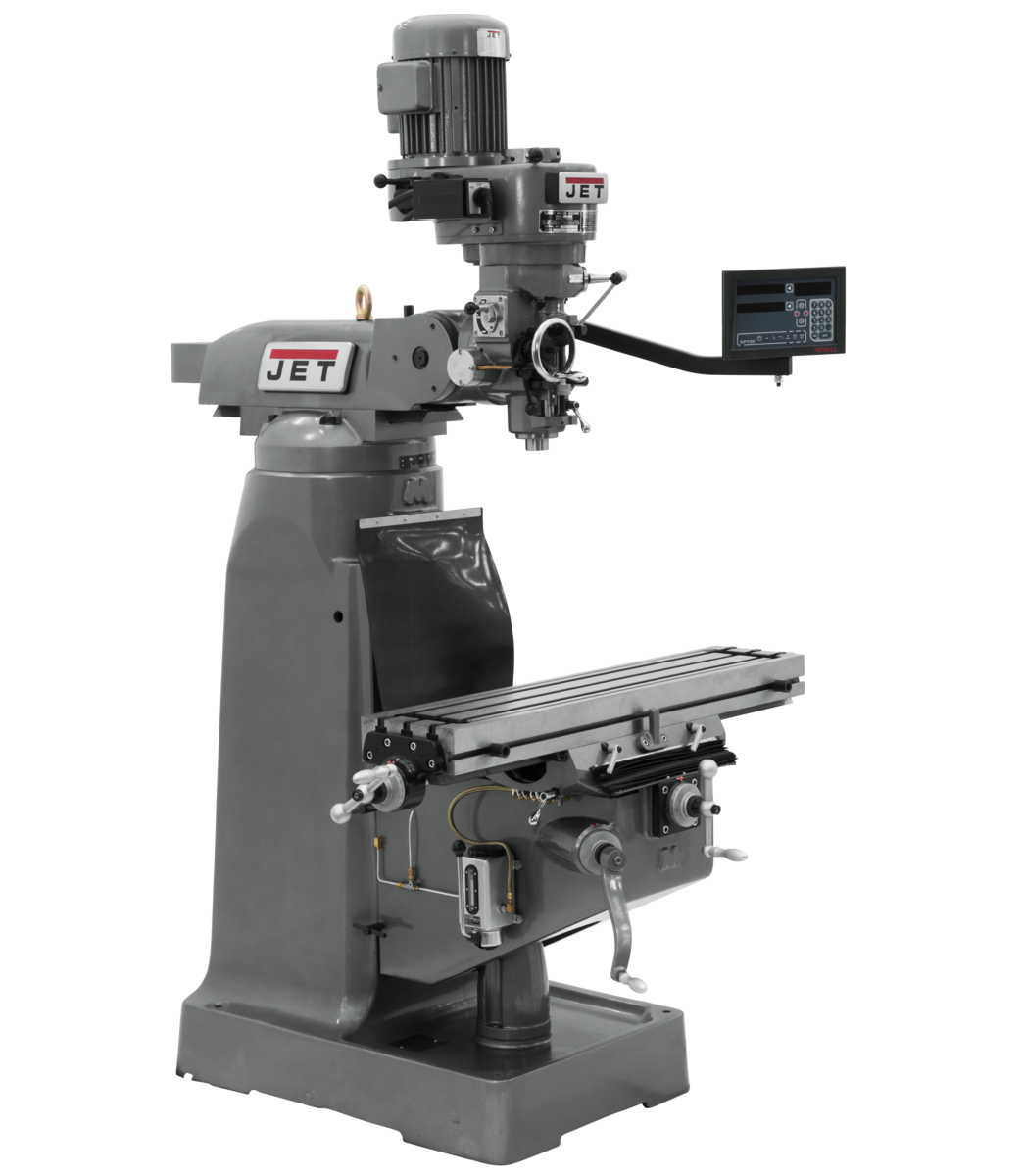Fresadora JVM-836-1 con visualizador de posición digital NEWALL DP700 (consola) de 3 ejes