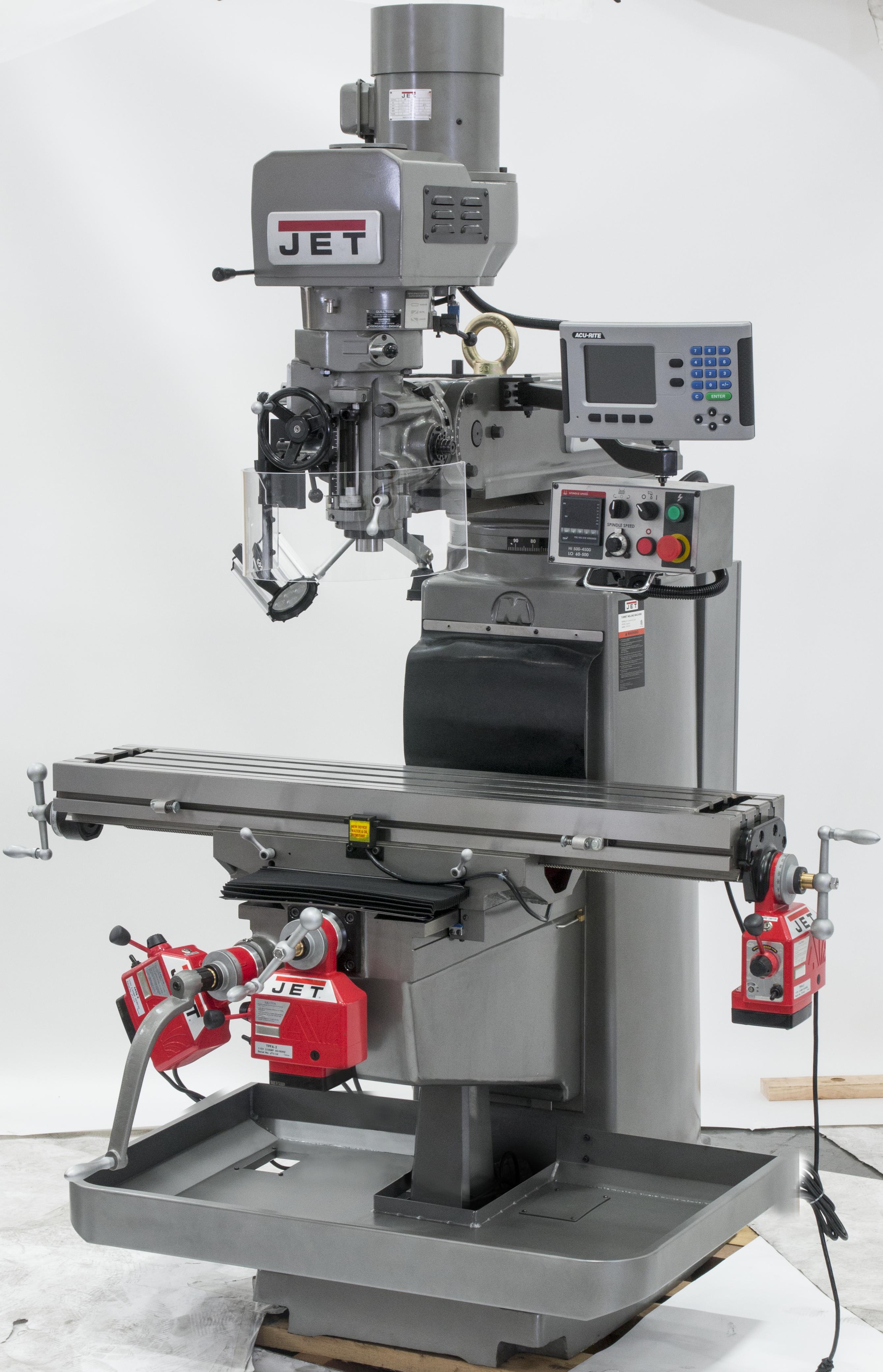 JTM-1050EVS2/230 Electronic Variable Speed Vertical Milling Machine 230V 3Ph
