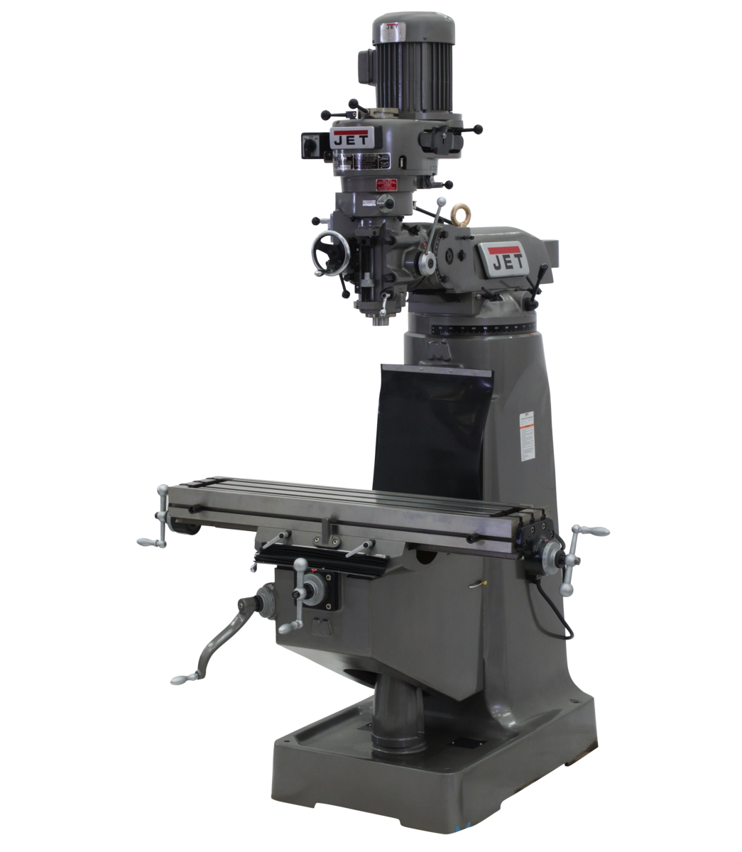 JTM-1 Mill With 3-Axis Newall DP500 DRO (Quill) With X-Axis Powerfeeds