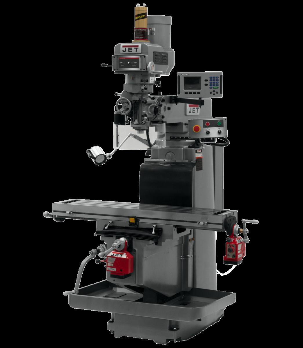 JTM-1254RVS with  ACU-RITE 203 DRO X & Y Powerfeeds & Air Power Drawbar