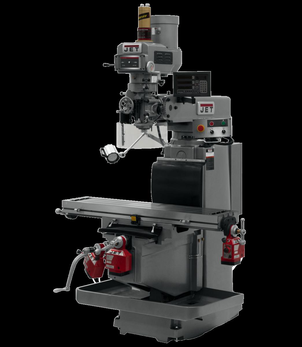 JTM-1254RVS with NEWALL DP700 3X (K) DRO,  X,Y&Z  Powerfeeds & Air Power Drawbar