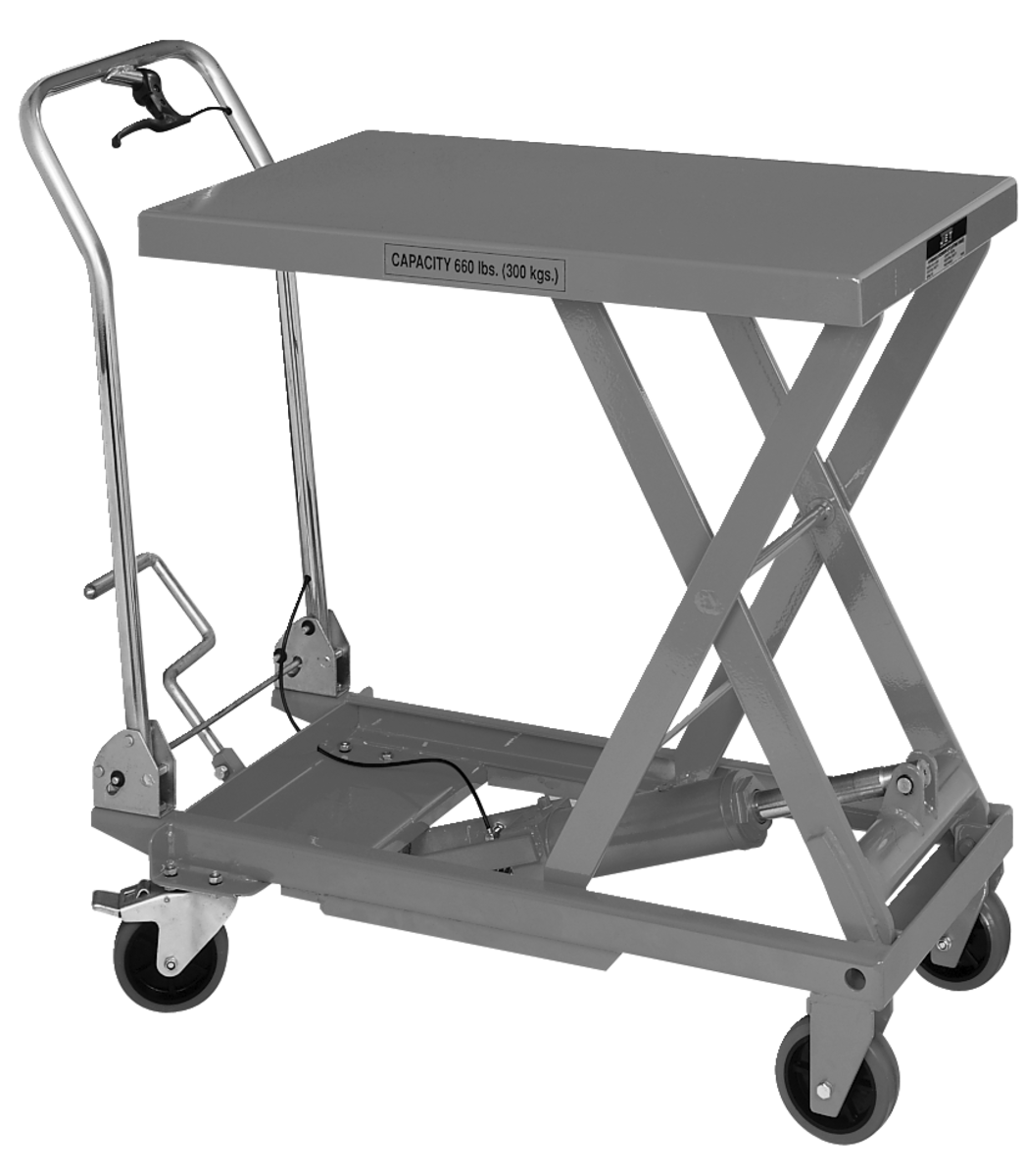 SLT-660F, Scissor Lift Table With Folding Handle