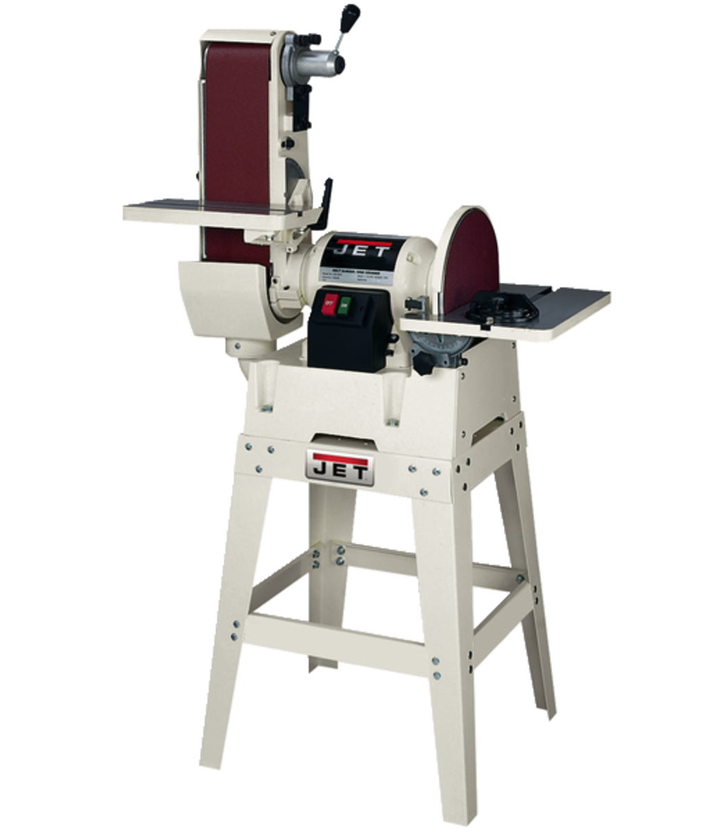 "JSG-6DCK, 6"" x 48"" Belt / 12"" Disc Sander with Open Stand"