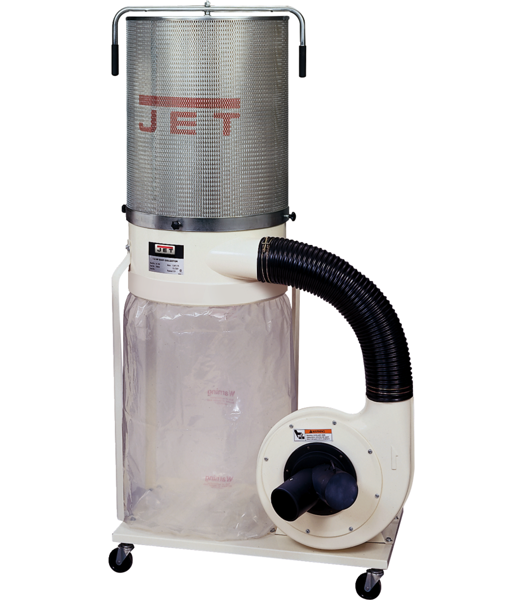DC-1100VX-CK, Recolector de polvo de 1.5 HP monofásico de 115/230 V, kit de cilindro de filtración de 2 micras