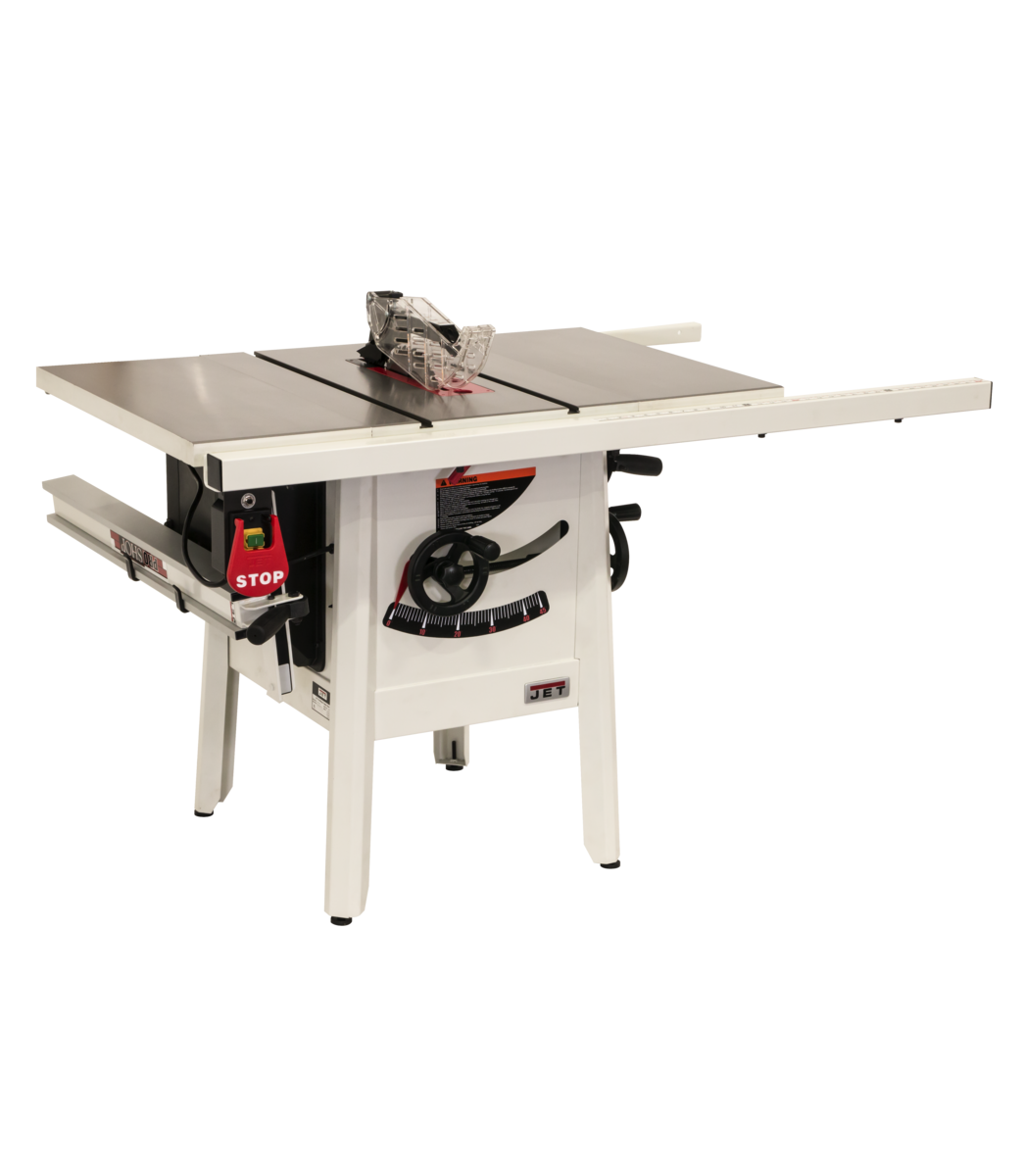 "The JPS-10 1.75 HP 115V 30"" Proshop Tablesaw Cast wings"