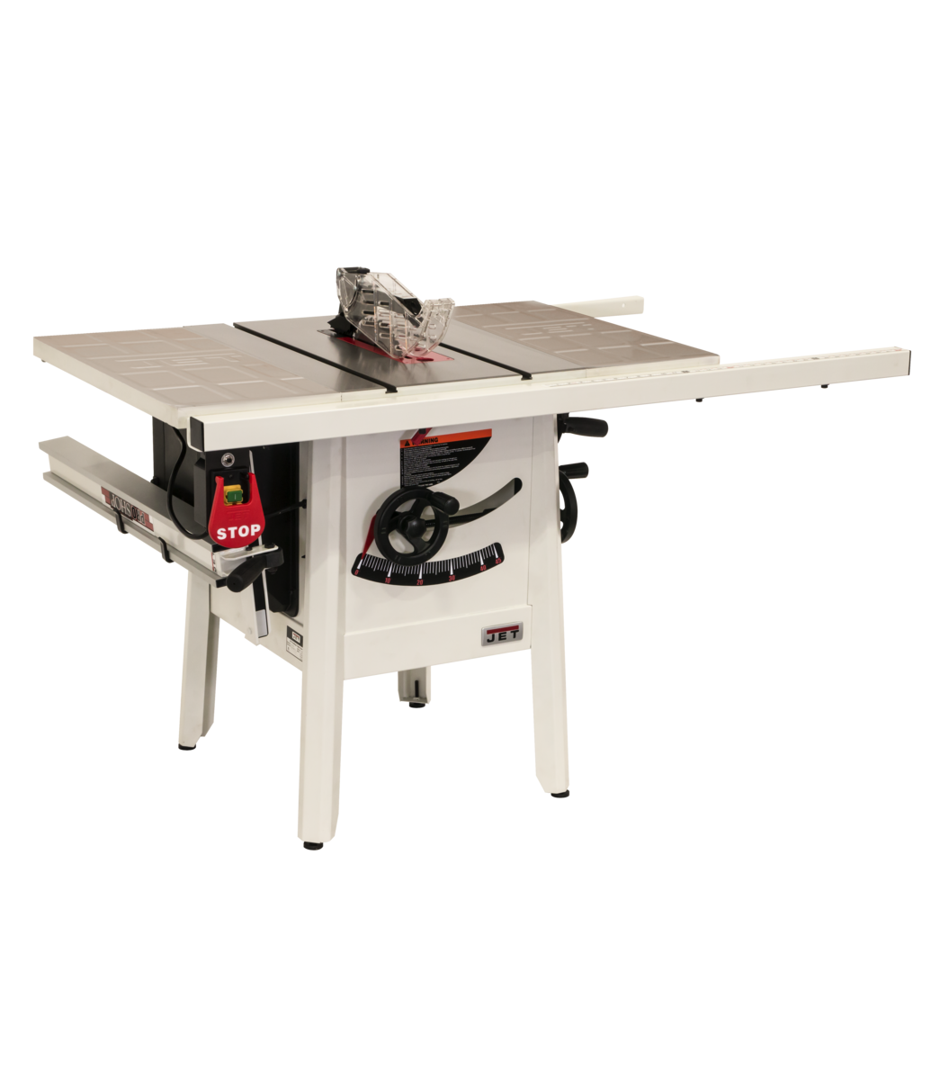 "The JPS-10 1.75 HP 230V 30"" Proshop Tablesaw with Steel wings"