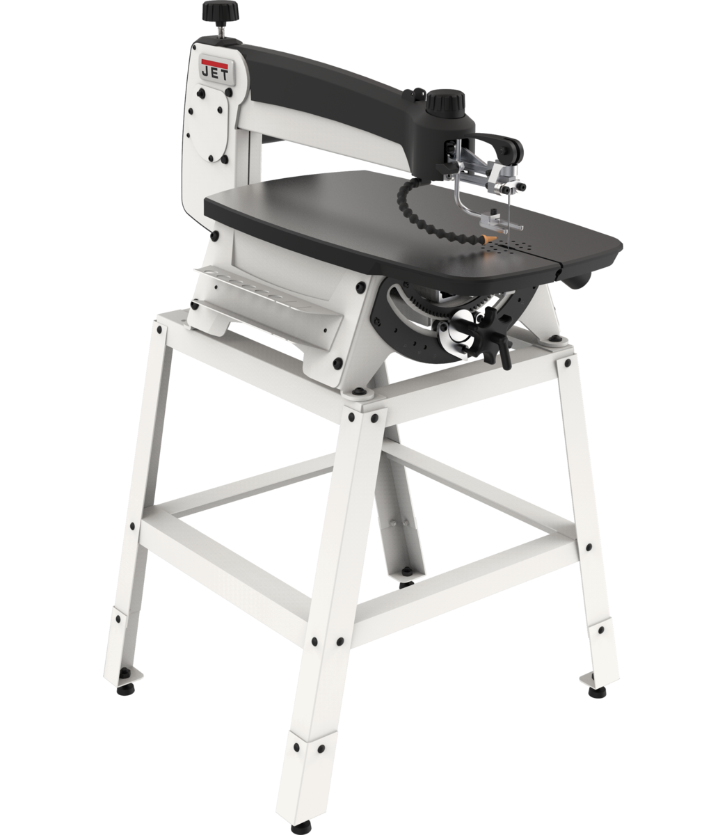 "JWSS-22 22"" SCROLL SAW W/STAND, SWITCH"