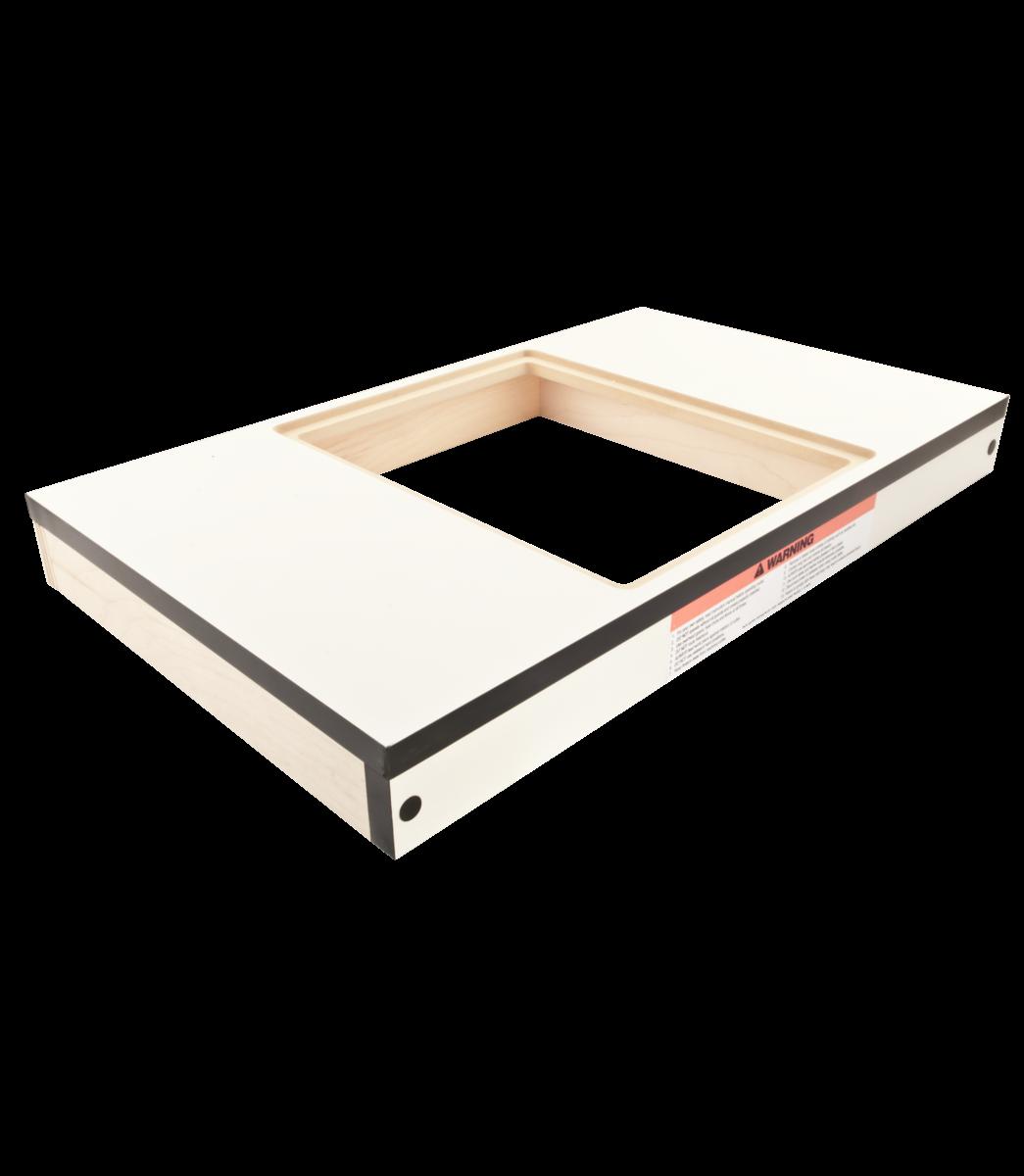 """Mesa de extensión para madera, 27"""" x 16"""", orificio para ranurador, XACTA"""