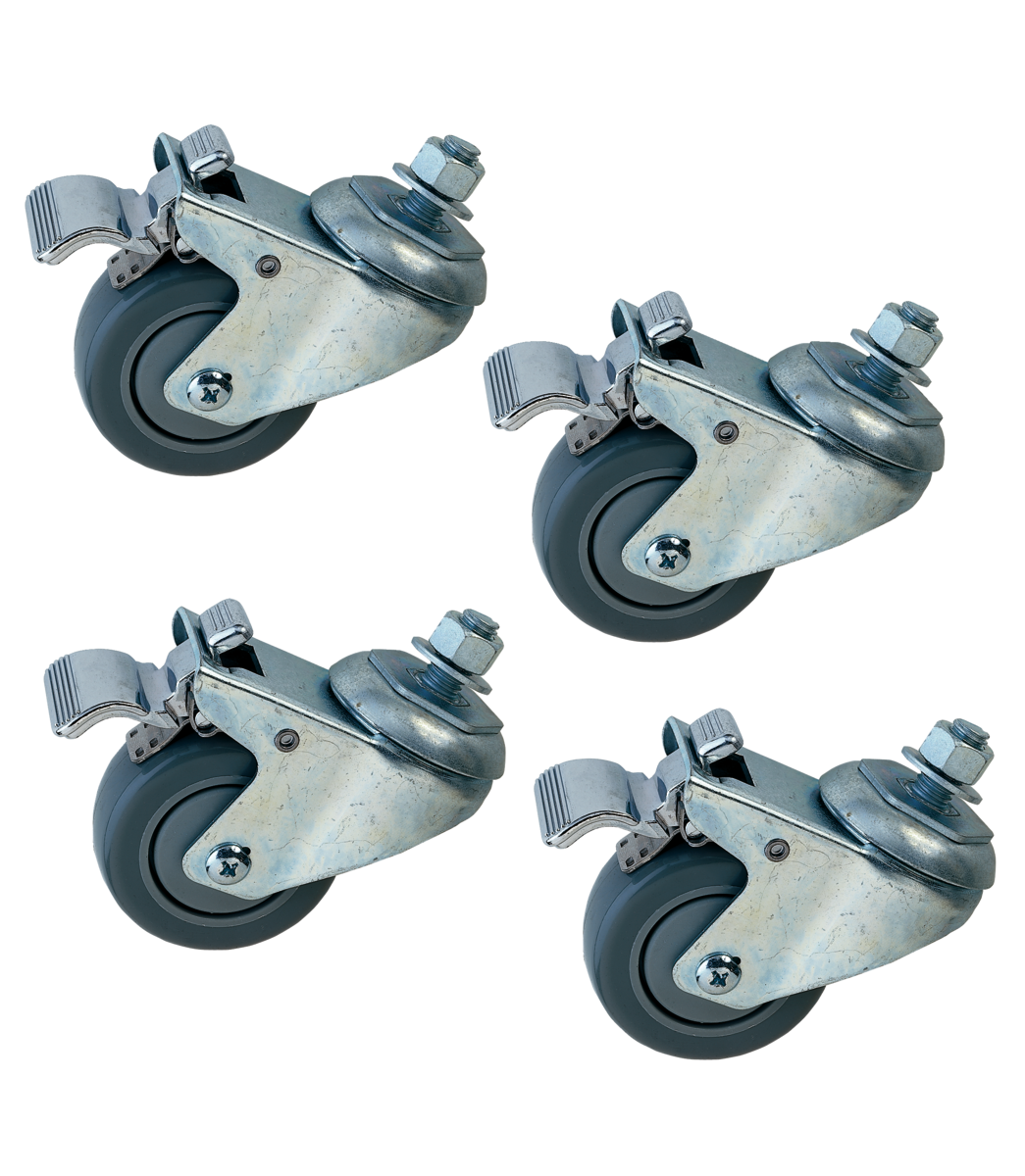 Driving swivel wheels (Set of 4 pcs.), Braked