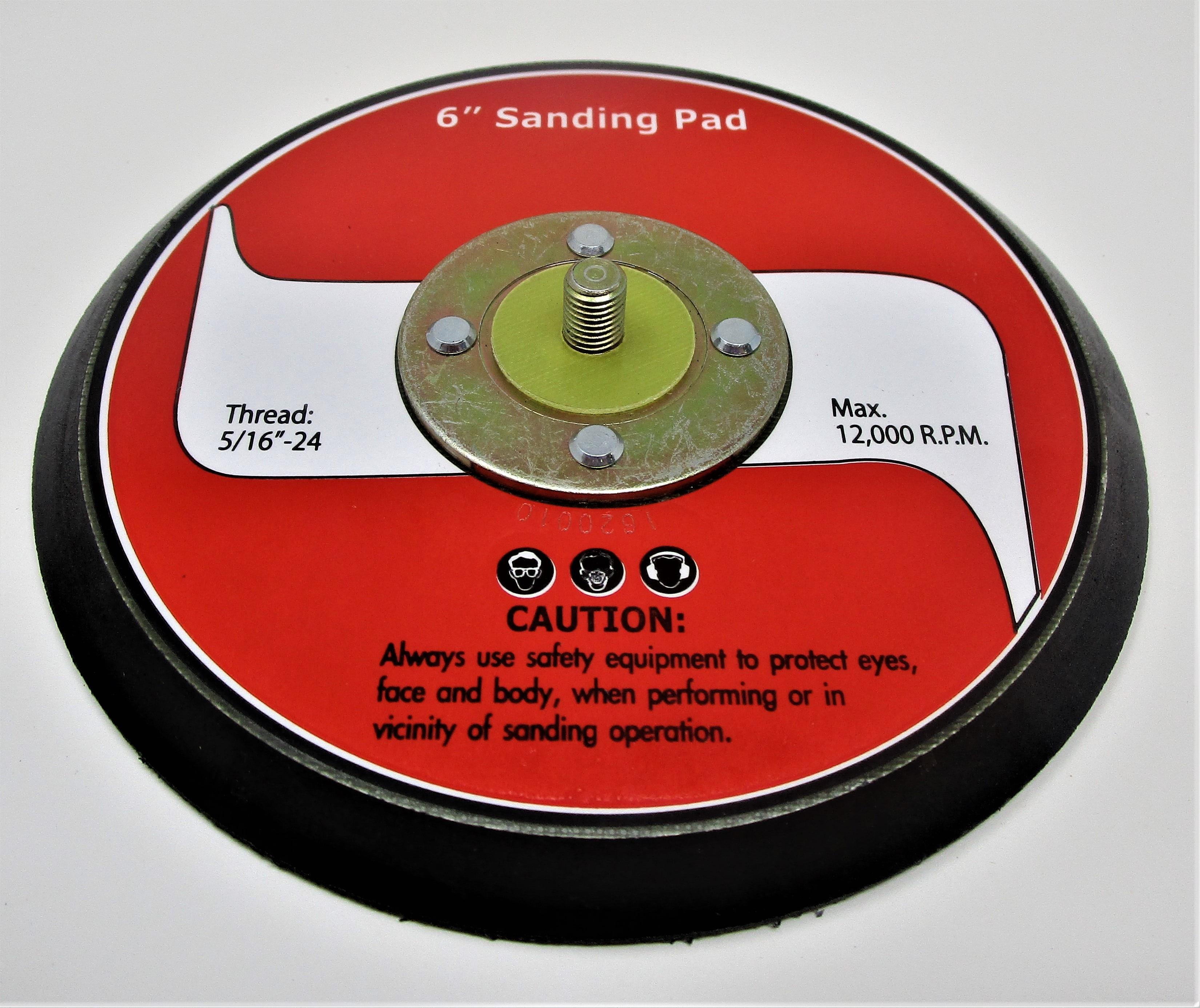 """JAT-731, HOOK & LOOP 6"""" SANDING PAD"""
