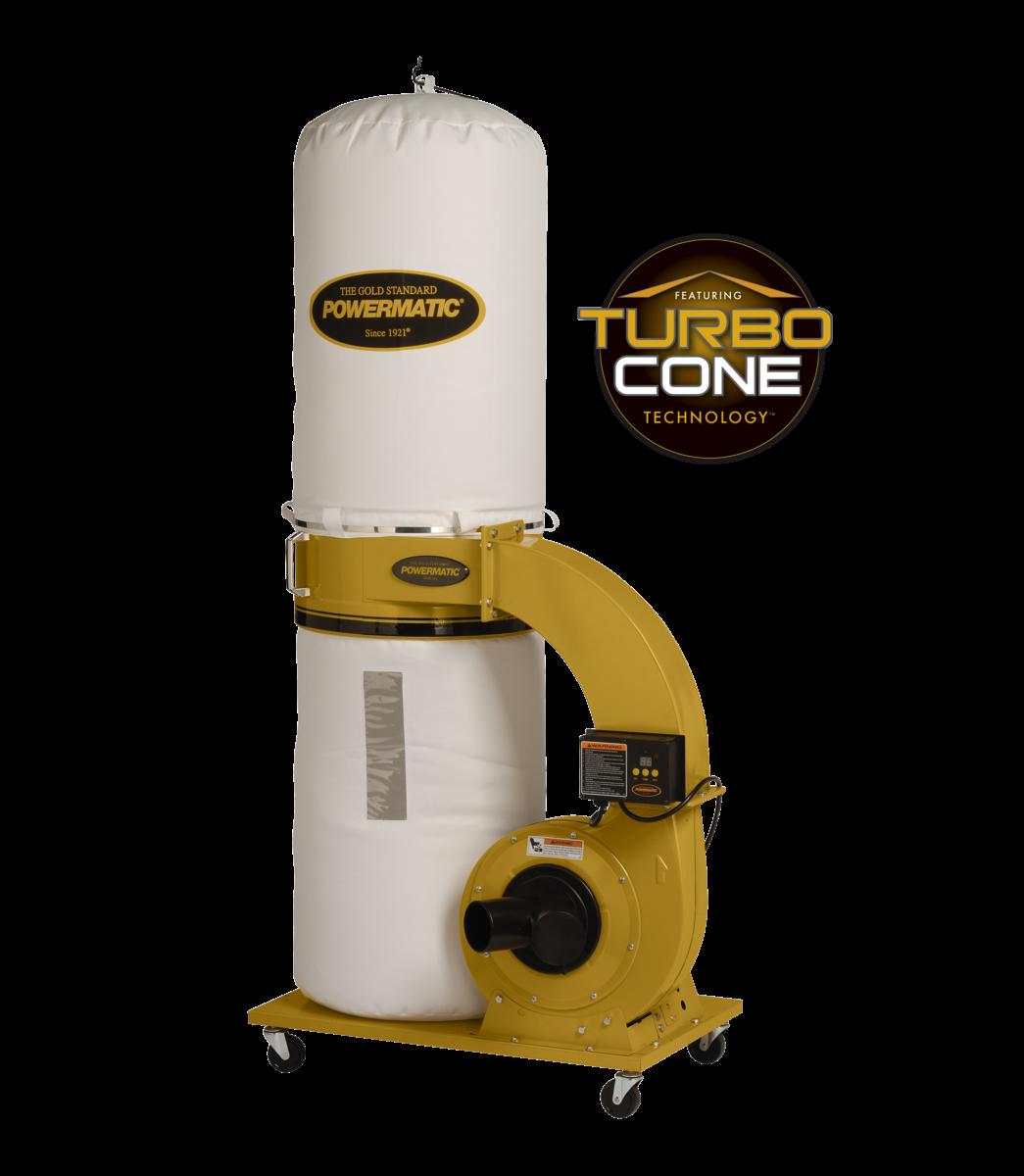 PM1300TX-BK Dust Collector, 1.75HP 1PH 115/230V, 30-Micron Bag Filter Kit