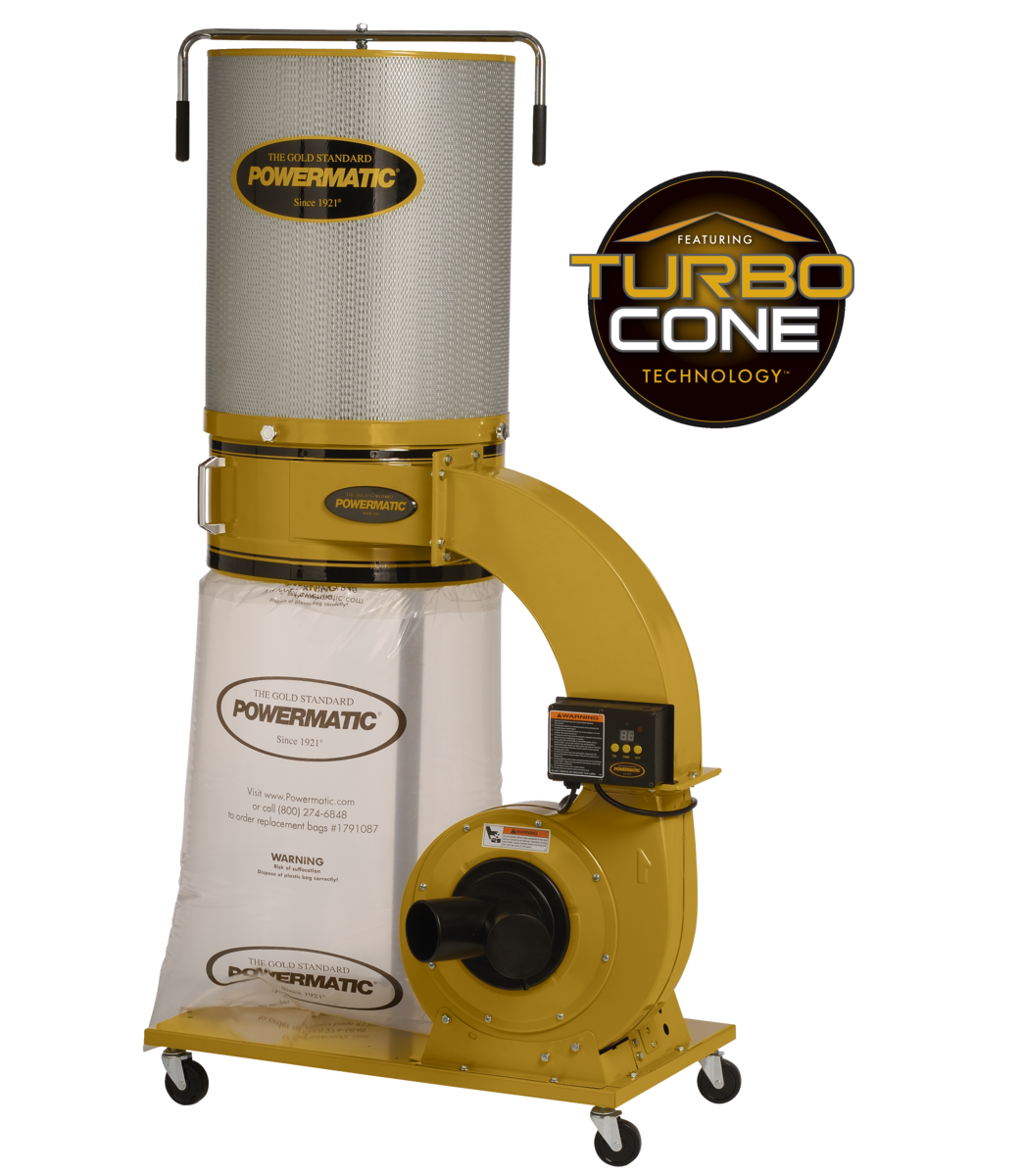 PM1300TX-CK Dust Collector, 1.75HP 1PH 115/230V, 2-Micron Canister Kit