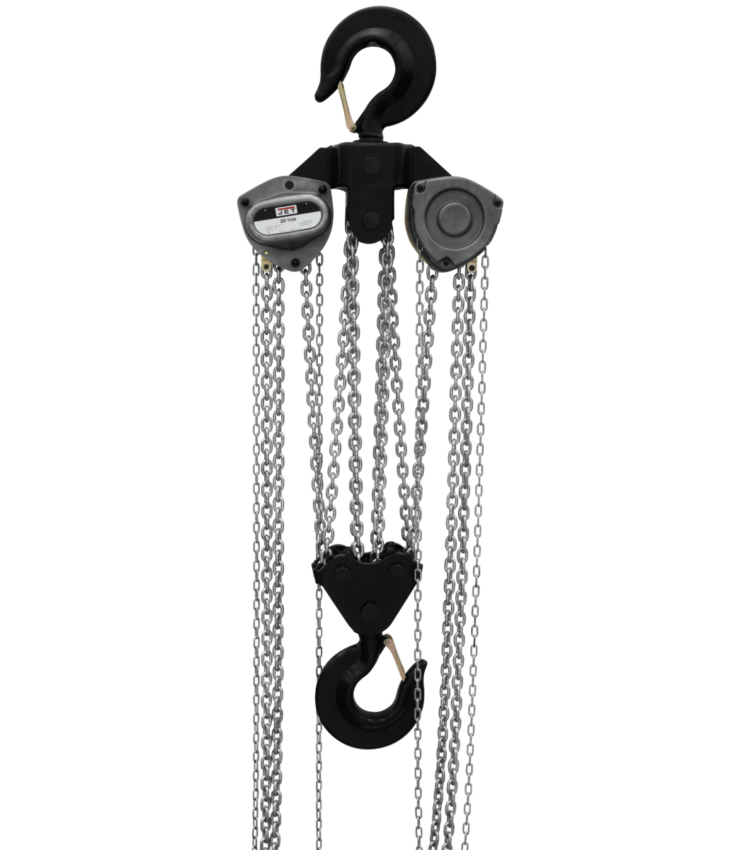 L-100-2000WO-15, 20-Ton Hand Chain Hoist With 15' Lift & Overload Protection
