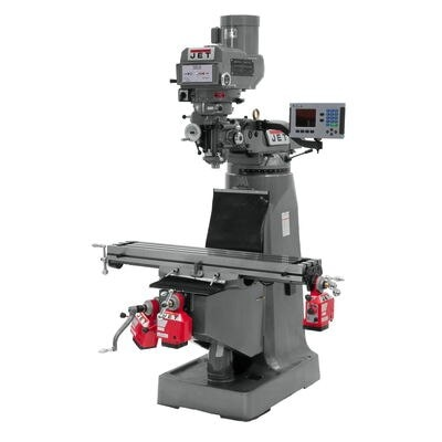 JTM-4VS-1 Mill With 3-Axis ACU-RITE 303 DRO (Quill) With X and Y-Axis Powerfeeds