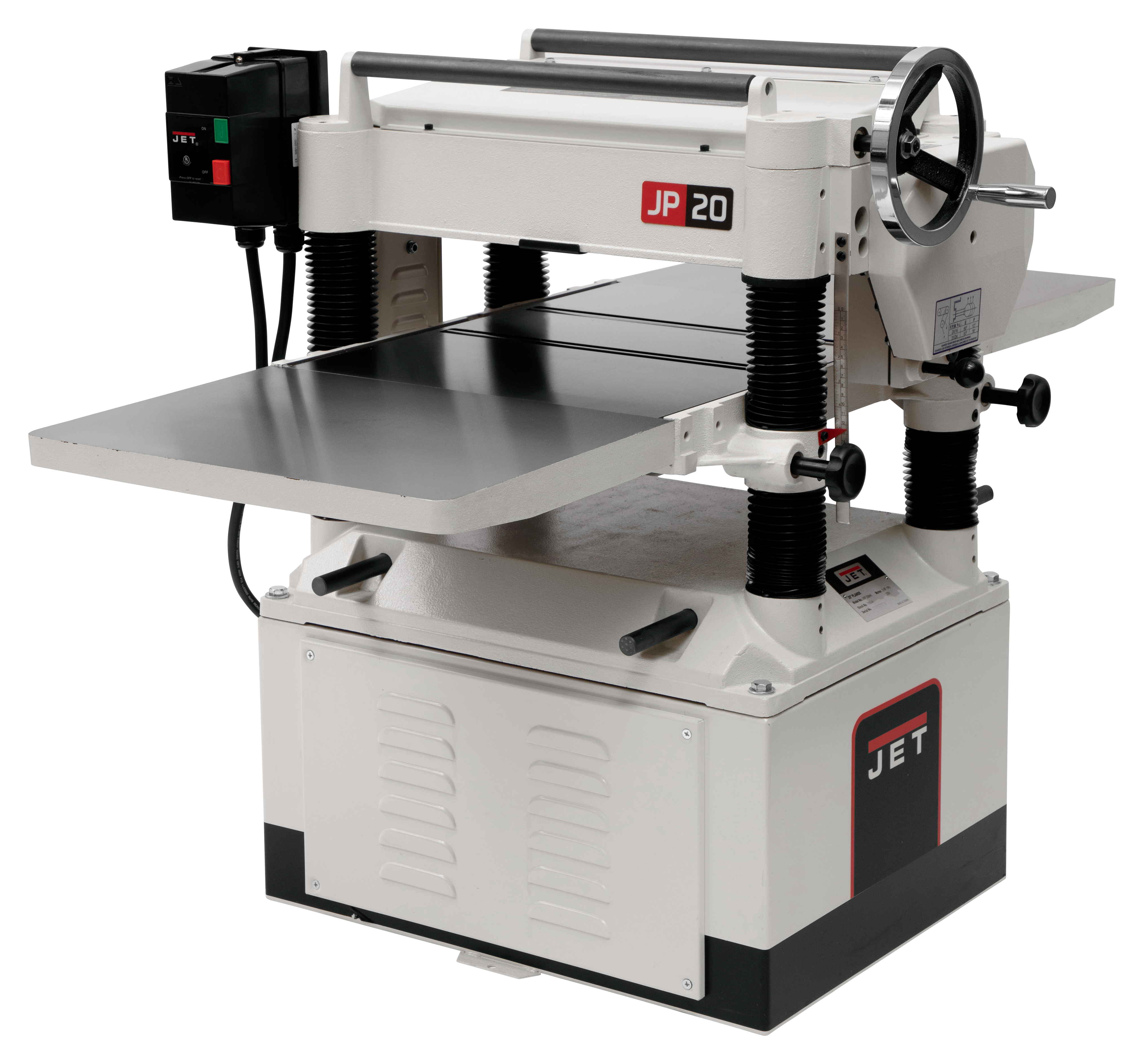 "JWP-208HH, 20"" Planer 5HP 1Ph, Helical Head"